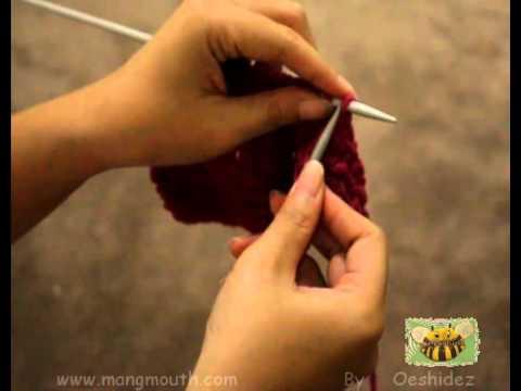 How to Knit and Purl วิธีการถักห่วงนิตและเพิร์ล