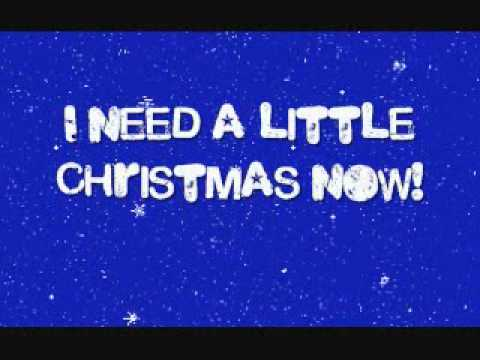 We Need A Little Christmas - Glee Cast (with lyrics) - YouTube
