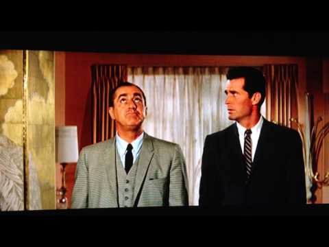 James Garner and Jim Backus negotiate in the best mid-century modern apt ever