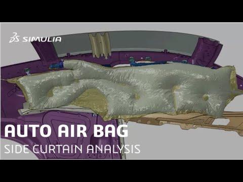 Side Curtain Air Bag Simulation