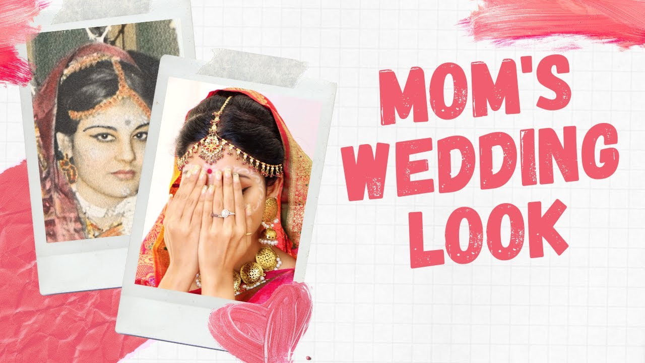 Recreated my moms wedding look and see what came out | HINDI | With English Subtitle