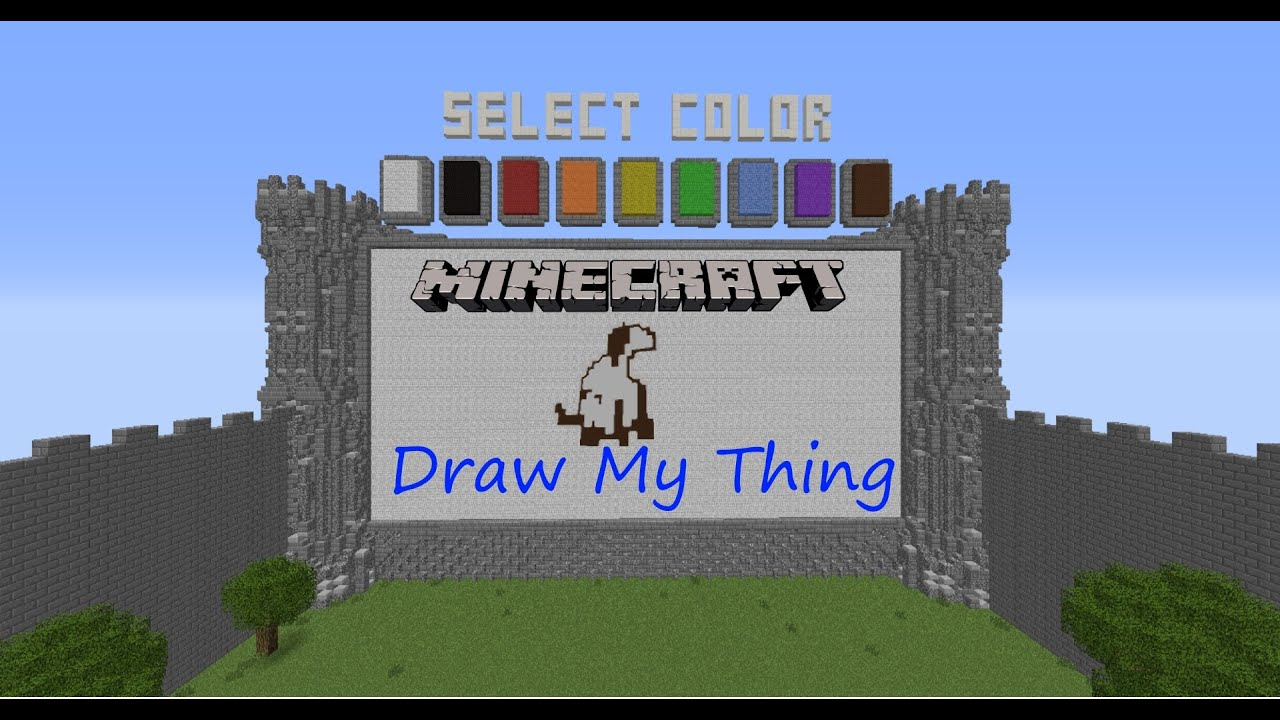 Minecraft draw my thing on mineplex r i p justin s self esteem