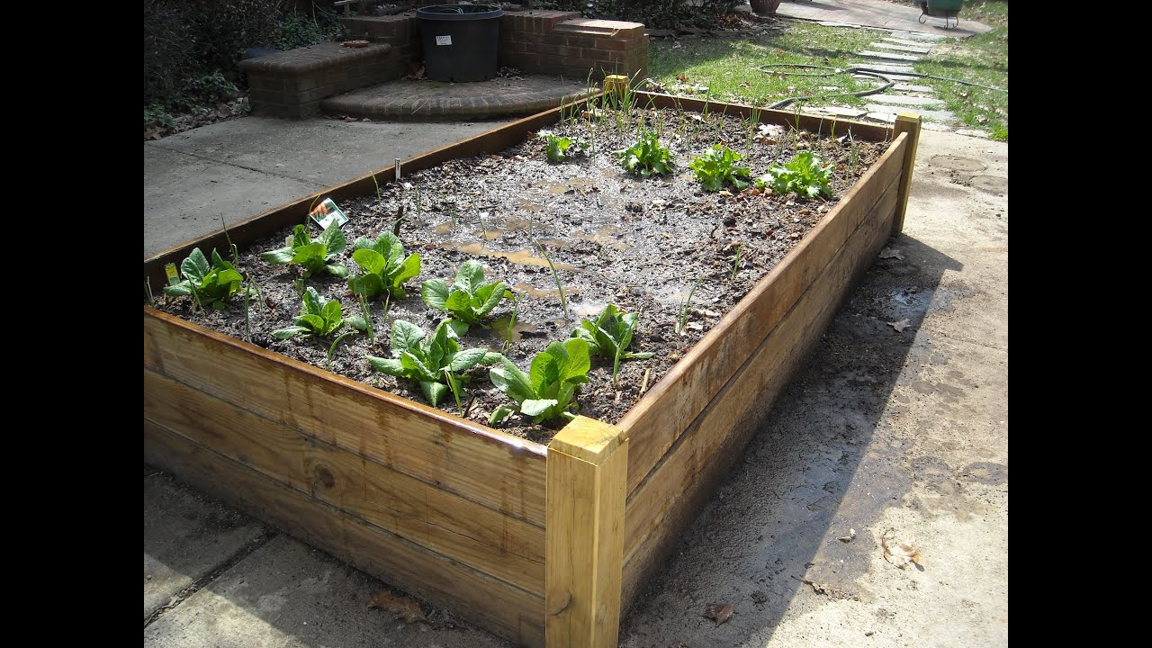 ATTRACTIVE RAISED BED FOR A PATIO