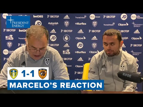 Marcelo Bielsa reaction | Leeds United 1-1 Hull City | Carabao Cup