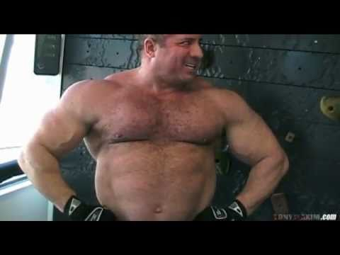 muscle Hairy man massive