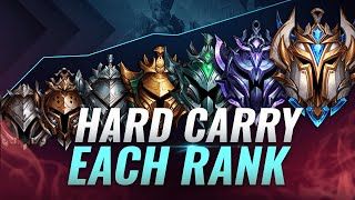 HOW TO HARD CARRY IN EACH RANK & CLIMB - League of Legends Season 10