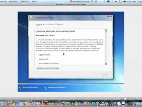 windows 7 su virtualbox