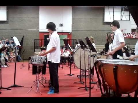 China Grove Middle School Percussion Ensemble 2011, Lead by Mr. Kirk
