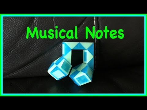 Rubik's Twist or Smiggle Snake Puzzle Tutorial: How to make Musical Quaver Notes - Step by Step