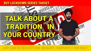A Tradition Of Your Country   New Cue Card Tradition Of Country   Raman Sir Ielts Sample Band 8.0