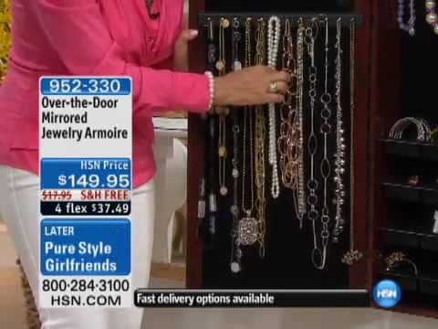 OvertheDoor Mirrored Jewelry Armoire YouTube