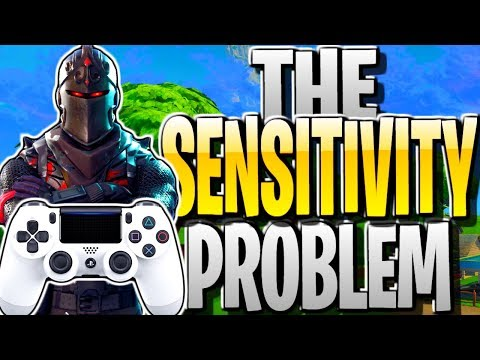 FORTNITE'S SENSITIVITY PROBLEM! BEST SETTINGS/SENSITIVITY TO USE FOR PS4/XBOX FORTNITE