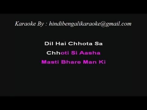Dil Hai Chhota Sa Chhoti Si Aasha - Karaoke - Roja (1992) - Minmini