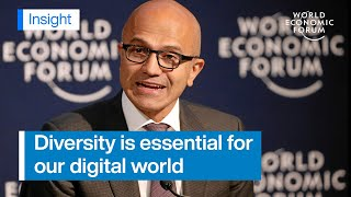 Gambar cover Satya Nadella: We must strive for inclusion in the digital economy