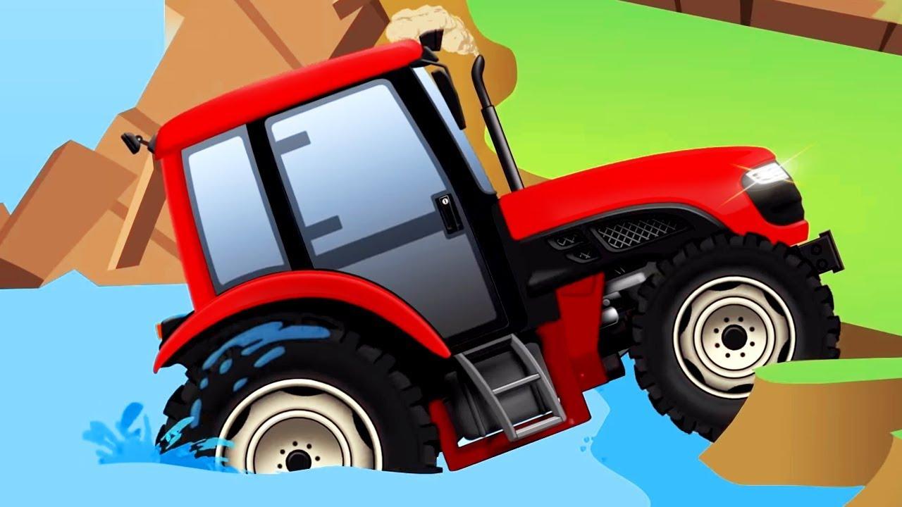 Tractor Y Coches Tractores Infantiles Offroad Dibujos Animados De Coches Para Niños Youtube