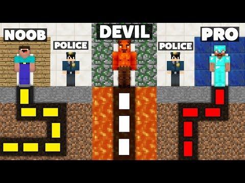 Minecraft Battle: NOOB vs PRO vs DEVIL : SECRET MAZE PRISON ESCAPE Challenge in Minecraft Animation