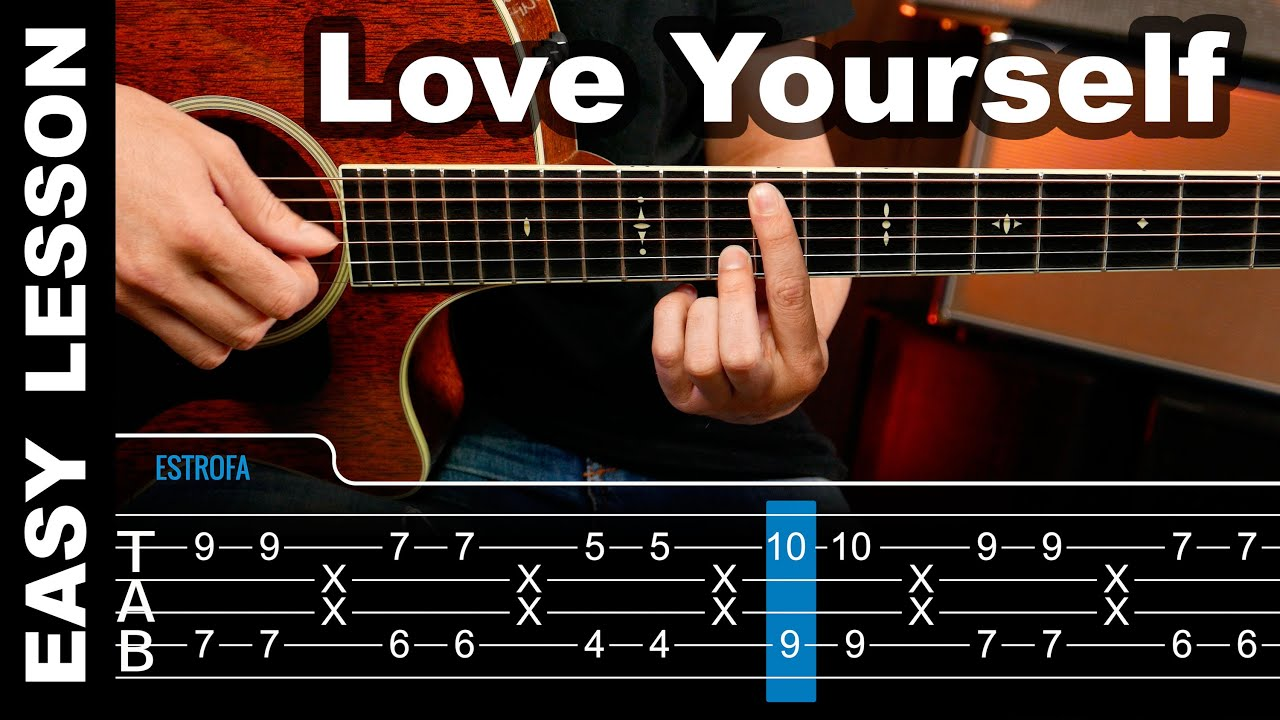 How To play Love Yourself Justin Bieber Guitar Lesson tabs ( Tutorial ) Chords - YouTube