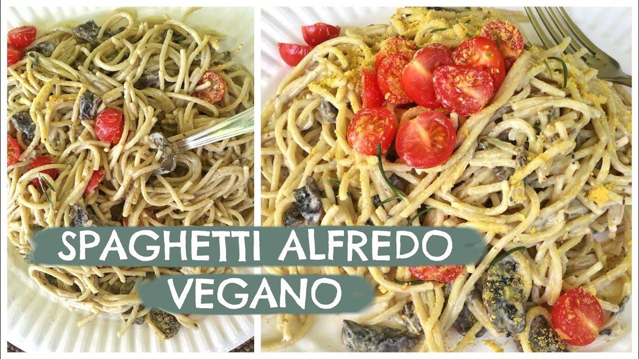 spaghetti de calabaza vegano