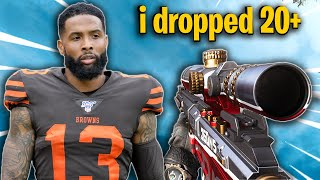 I played Warzone with Odell Beckham Jr