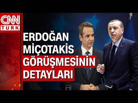 """Cumhurbaşkanı Erdoğan: """"Miçotakis ile aynı fikirdeyim"""" Miçotakis'e mesaj"""