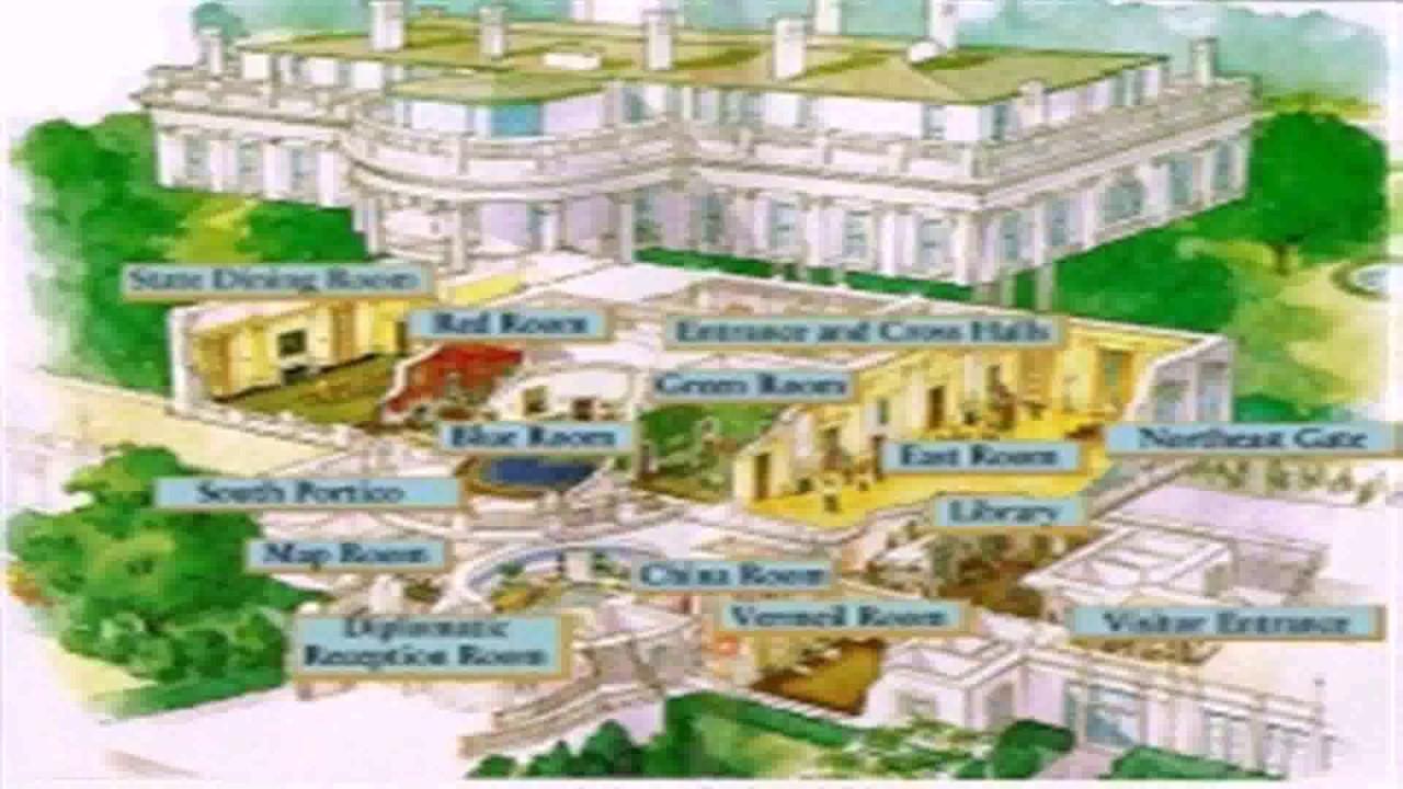 White House Floor Plan Map  YouTube
