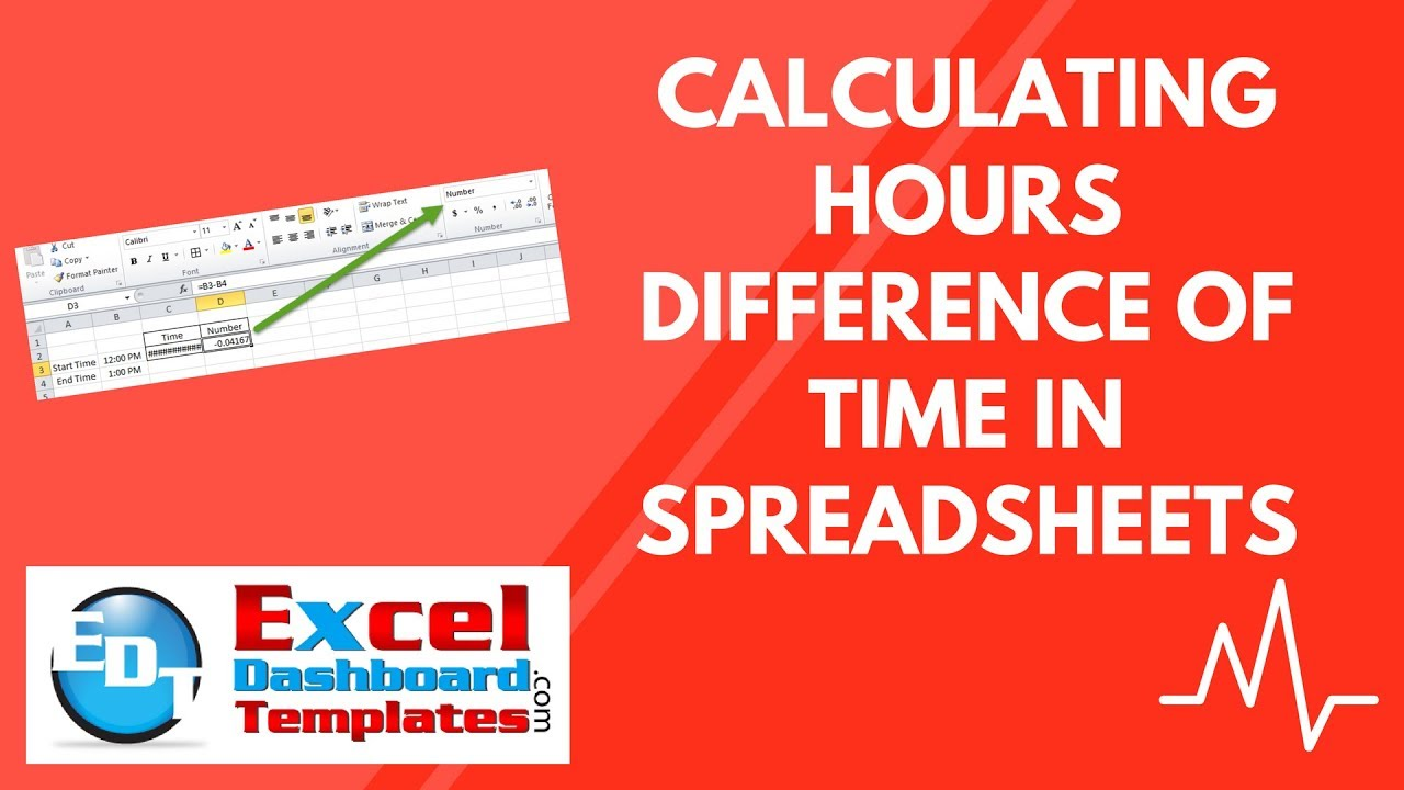 calculating hours difference of time in excel spreadsheets youtube