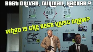 GTA Online What Is The Best Driver, Gunman And Hacker To Use On 3 Approaches In The Casino Heist?