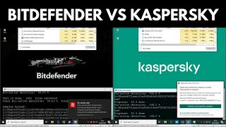 Kaspersky vs Bitdefender Free   Test vs Malware