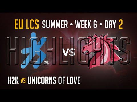 H2K vs Unicorns of Love HIGHLIGHTS   Week 6 EU LCS Summer Split 2015 S5   H2K vs UOL W6