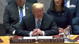 President Trump Participates in a United Nations Security Council Briefing on Counterproliferation