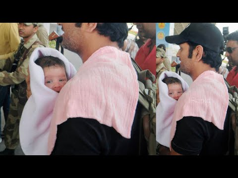 "Dhoni Daughter ""ZivaDhoni"" Exclusive Photos - Ranchi Airport"