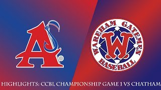 Gatemen Baseball Network Highlights: Wareham Gatemen vs. Harwich Mariners (6/13/18)