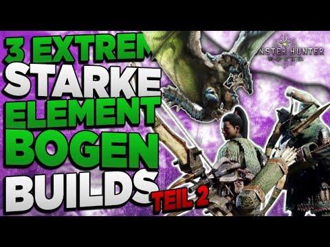 3 super starke Element Bogen Builds - Wasser, Feuer, Donner (Eis)- Monster Hunter World Deutsch thumbnail