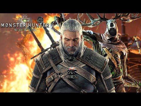 Monster Hunter World Ps4 German The Wicher Geralt von Riva thumbnail
