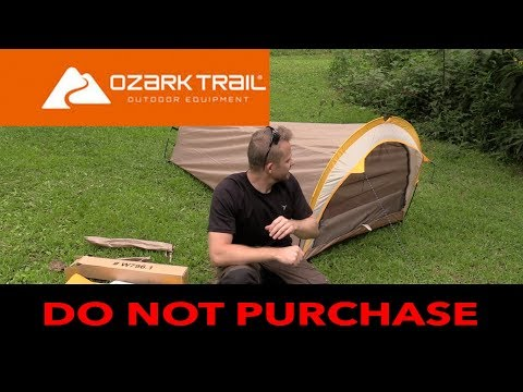 Is a $25 Tent from Walmart Waterproof? - Ozark 1 Person Backpacking Tent