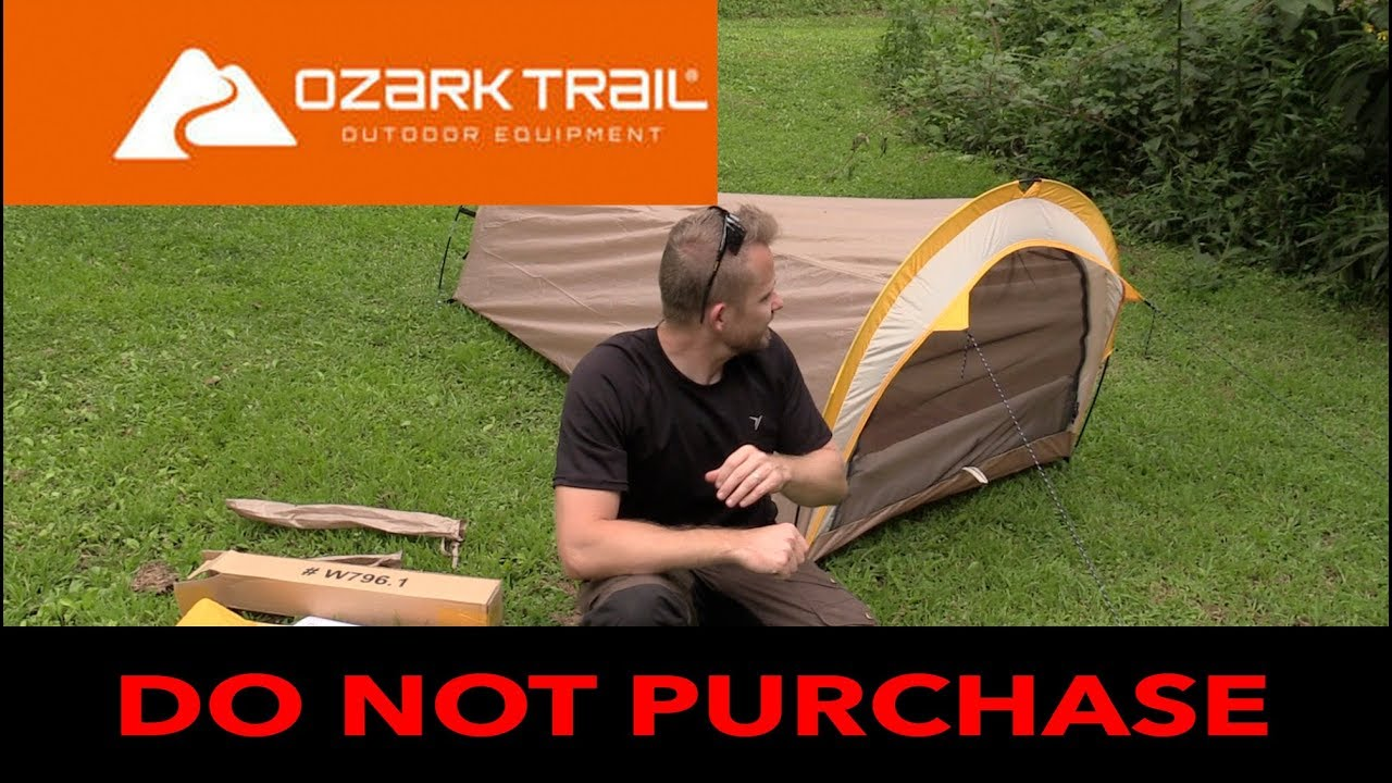 Is a $25 Tent from Walmart Waterproof? - Ozark 1 Person Backpacking Tent & Is a $25 Tent from Walmart Waterproof? - Ozark 1 Person ...