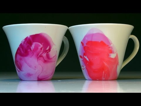 Easy Watercolor Coffee Tea Mugs With Nail Polish How To