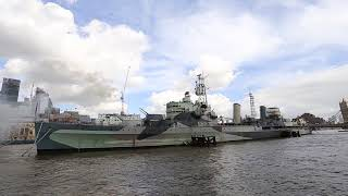 6 Inch Guns Fired on the eve of HMS Belfast's 80th Anniversary
