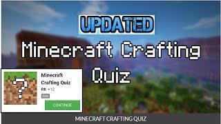 Minecraft Crafting Quiz answers || Minecrafting Quiz || LATEST UPDATED VERSION || quizdiva