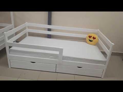 Купить детскую кровать софа из массива берёзы
