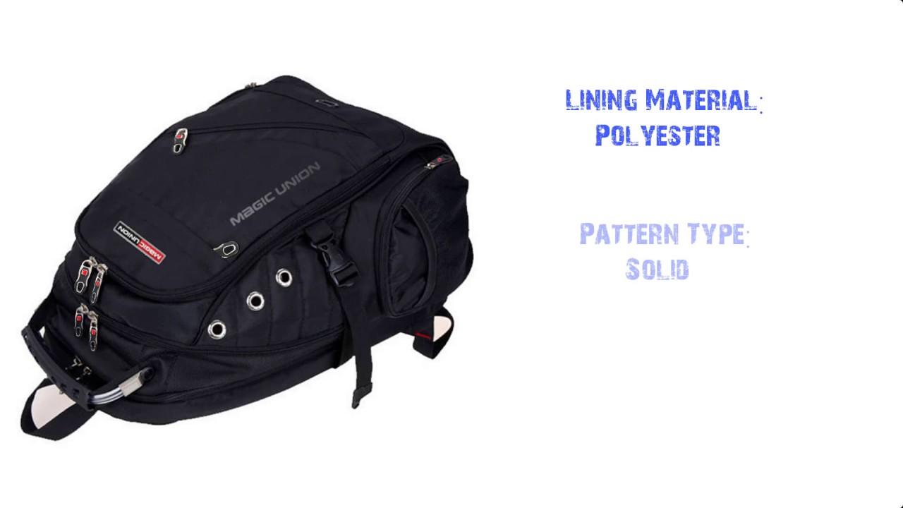 2bd1d019a5b5 MAGIC UNION Brand Design Men s Travel Bag Man Backpack Polyester Bags  Waterproof Shoulder Bags