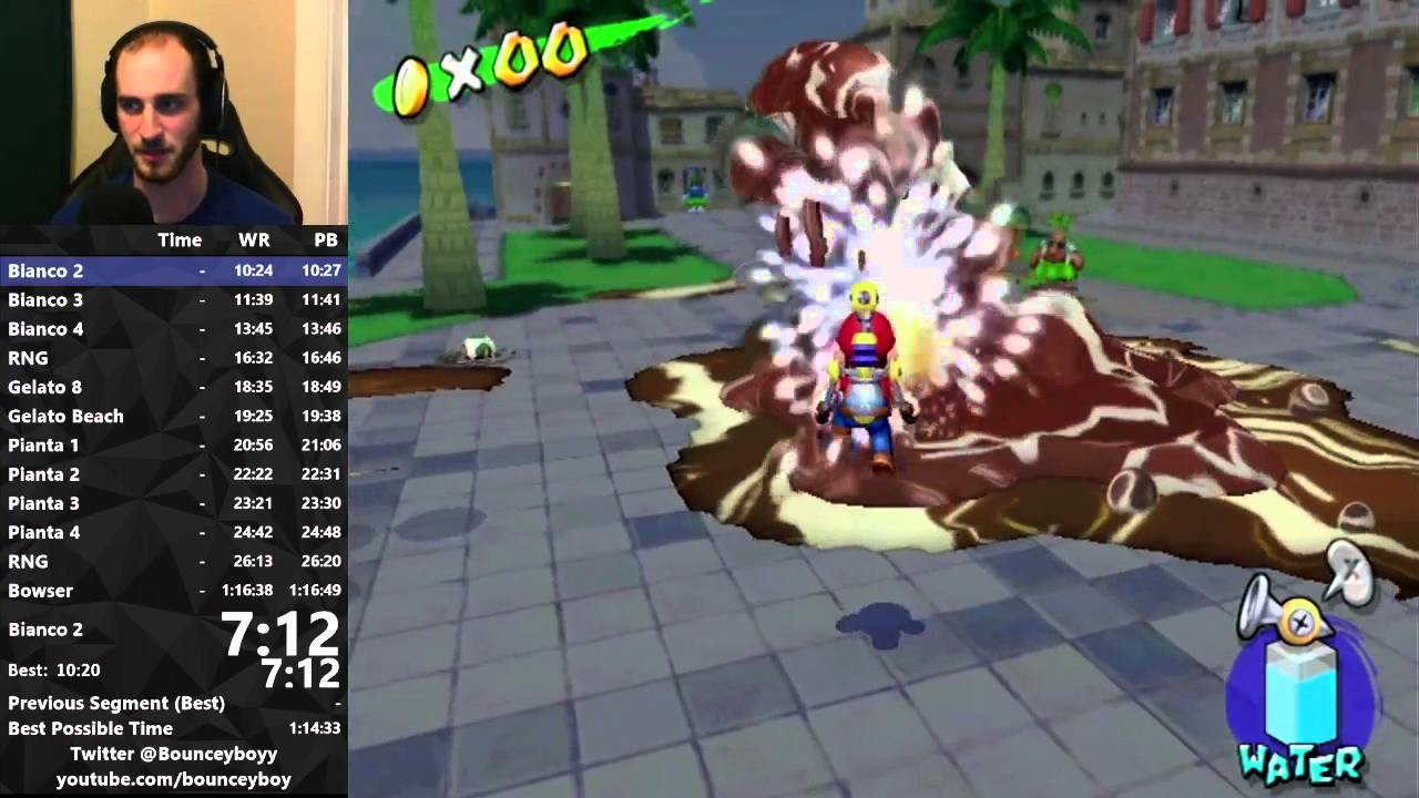 Super Mario Sunshine any% speedrun in 1:16:36 (WR on 3/11/16) - YouTube