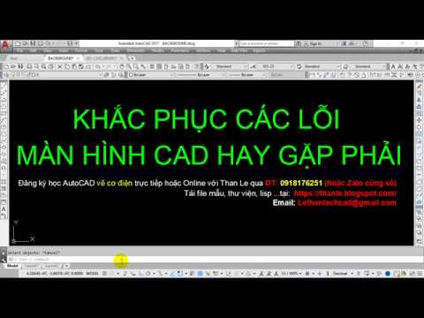 Tổng hợp các lỗi AutoCAD thông dụng mà người dùng AutoCAD hay gặp phải