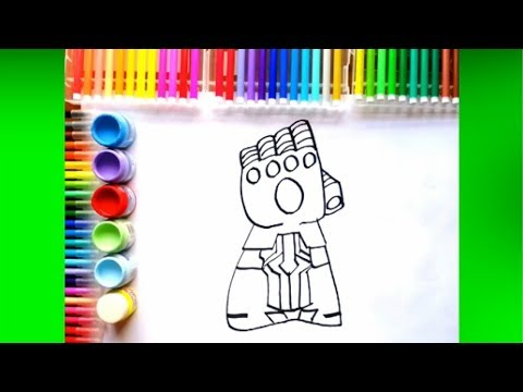 Como Dibujar El Guantelete Del Infinito Facil Thanos Avengers Youtube