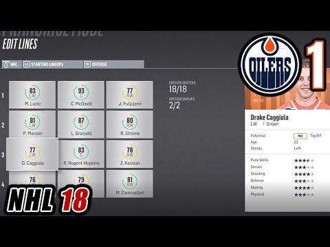 THE OILERS RETURN! GM DOLYNNY IS BACK! ROSTER OVERVIEW | NHL 18 Edmonton Oilers Franchise Mode Ep 1