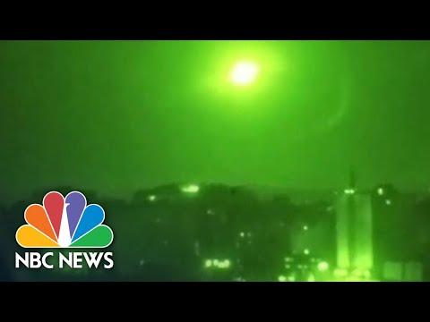 Barrage Of Israeli Missile Strikes Iranian Targets Around Damascus | NBC News