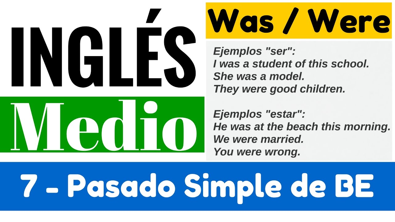 Pasado Simple De Be Oraciones Con Was Were Yes En Inglés 2 Video 7