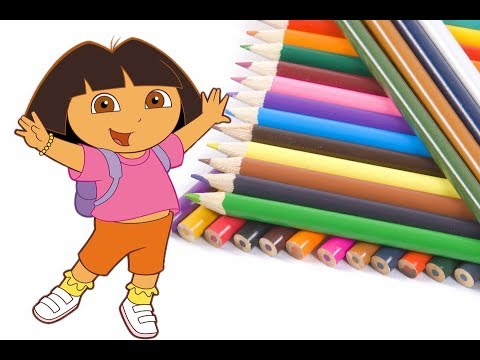 Color page: Coloring your favorite character Dora the explorer