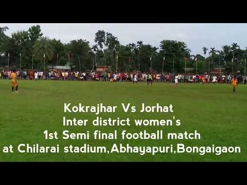 Women football tournament,Assam | kokrajhar vs Jorhat 1st Semi final match at Abhayapuri,Bongaigaon