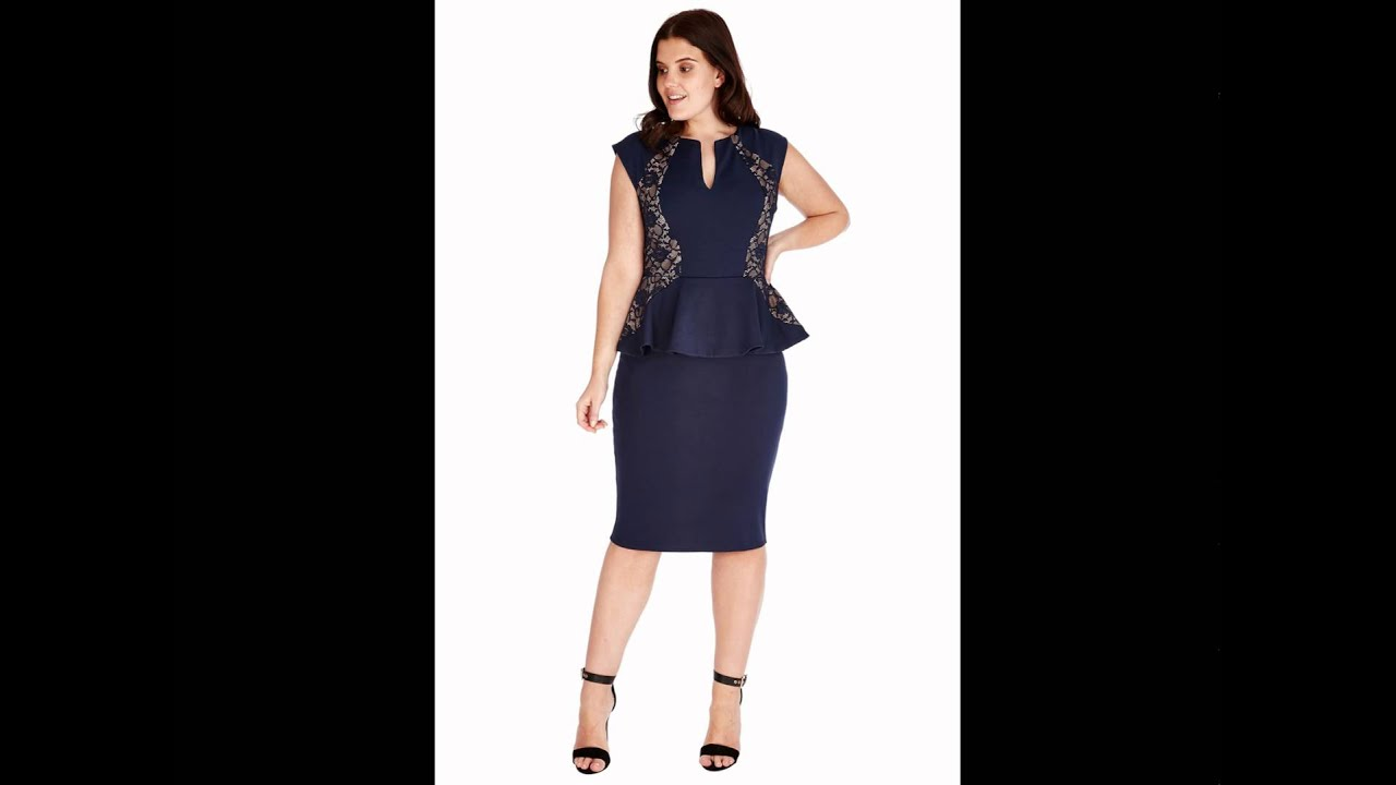 Plus Size Peplum Midi Dress - Citygoddess.co.uk - Wholesale - London